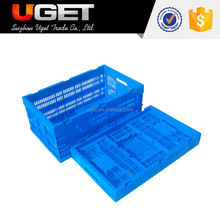 Eco-Friendly Recyclable Stackable Vented Folding Plastic Crate
