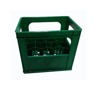 HDPE plastic wine crate for beer bottles