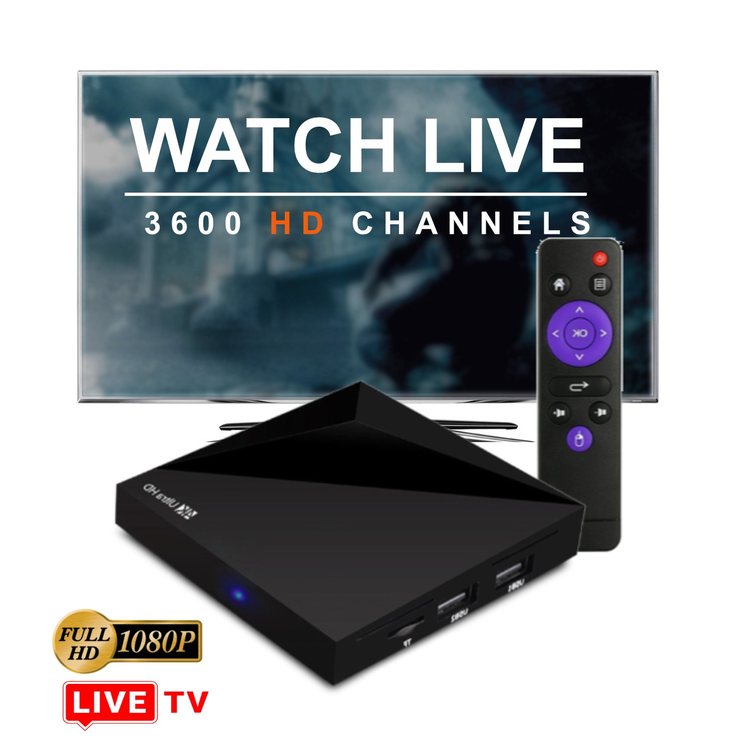 MS IPTV Receiver Loaded With 3000 Live TV Channels From All Around The World With Movie Library & VOD Apps - Stream in HD Quality LIVE TV & Video on Demand