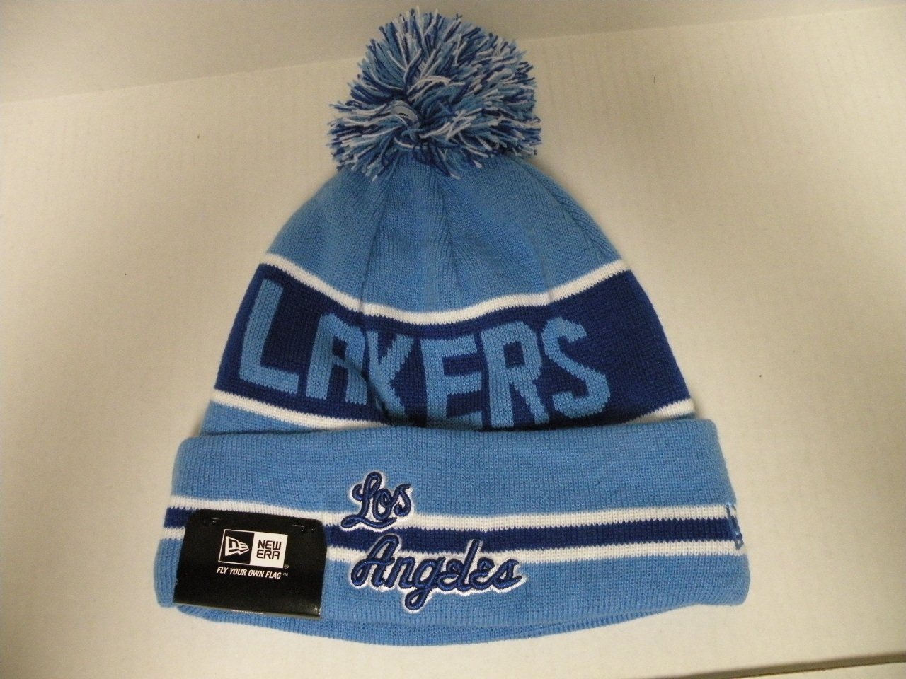 7a54c6a95cf NewEra NBA Los Angeles Lakers HWC Coach Toque Cuffed Beanie with Pom New Era