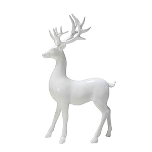 Home Decoration Resin White Deer