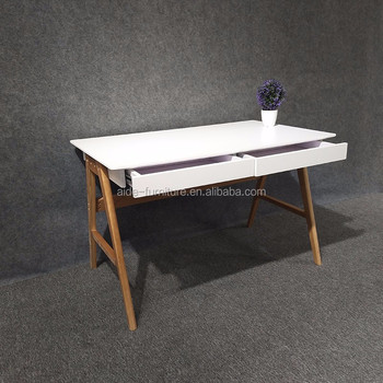 White MDF Computer Table Home Office Wood Wook Computer Desk