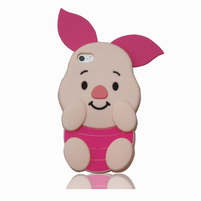 3D Cartoon Cute Piglet Phone Case For iPhone 4 4S 5 5S 6 6s Plus 7 7Plus 8 8Plus Pigge Soft Silicone Cover Coque Fundas