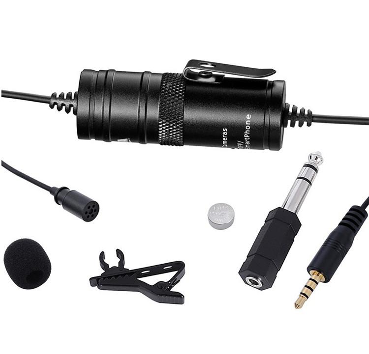 BOYA by-M1 3.5 milímetros Microfone De Lapela Condensador MIC Com Windscreen Windshield para Smartphones Câmera DSRL