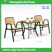 chair 605+ table 802 Competitive price factory directly outdoor rattan bistro set balcony furniture