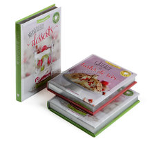 colorful hardcover recipe cooking books printing