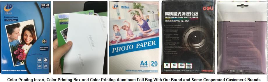 Venta al por mayor a prueba de agua de alta brillante acabado avanzada de inyección de tinta de secado rápido, álbum de fotos de papel