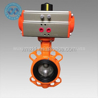 spring return pneumatic rotary actuator Butterfly Valve