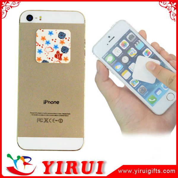 logo printed mini sticky cleaning mobile phone screen cleaner