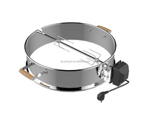 Top selling rvs Waterkoker Fire Ring Rotisseire <span class=keywords><strong>kit</strong></span> <span class=keywords><strong>Kit</strong></span> voor Alle 22-1/2 houtskool grill