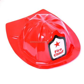 Estilo de venta buena calidad más popular plástico rojo bombero sombrero  cubierta casco juguete para niños de195c7f957