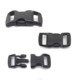 10mm black Plastic Curved Side Release paracord Buckles For Bracelet