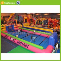 pvc inflatable sport game on sale inflatable human table football toss game