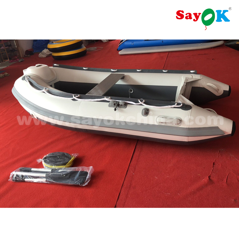 4 person 2.7m rib hypalon boat rigid inflatable boat with aluminum floor for sale