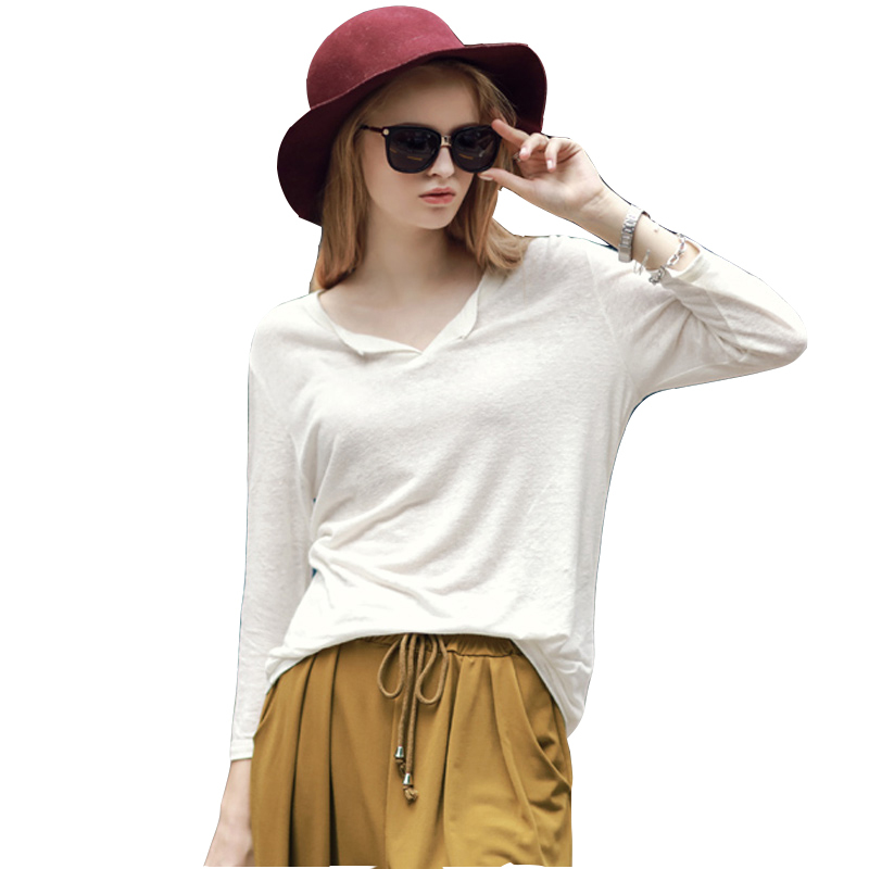 a20c044eb ... white shirts womens casual white shirts womens loose solid V neck tops for  womens fashion long sleeve vintage blouses in Cheap Price on m.alibaba.com