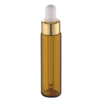 High quality  5ml 8ml 10ml cosmetic packaging tube clear amber serum essential oil sample bottle with dropper