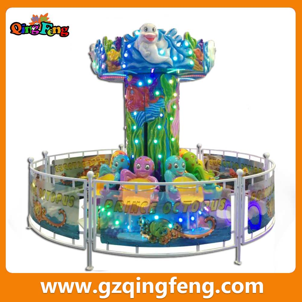 prince octopus Rotatable lifting flying chair carousel game machine in guangzhou