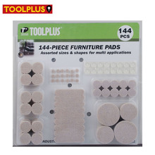 144PC Combo Pack Furniture Leg Edge Protectors Rubber Felt Foot Pad