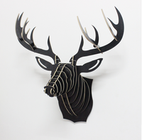 wall-mounted deer head and Wooden Deer Head