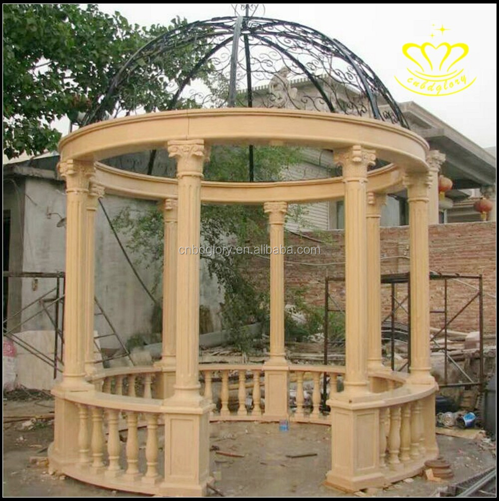 European Roman style outdoor recreation marble pavilion garden decor
