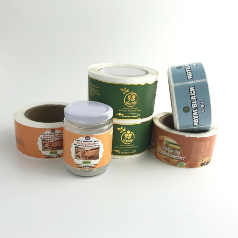 Custom Printed Logo Labels for Packaging Vinyl Waterproof Sticker Printing Roll Label Round Stickers