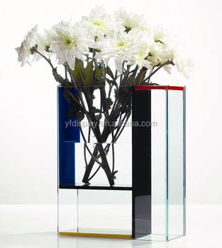 High Quality Colorful Acrylic Vase Display