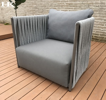 Dubai hot sales  outdoor sofa rope outdoor furniture waterproof pool furniture  outdoor patio chair plastic rope garden sofa