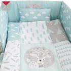 Cartoon pattern baby girl crib bedding set wholesale