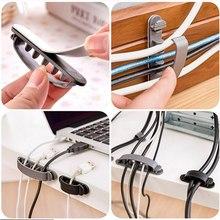 10Pcs Line Wire USB Charger Cable Holder Cord Clips convenient Desk Organiser