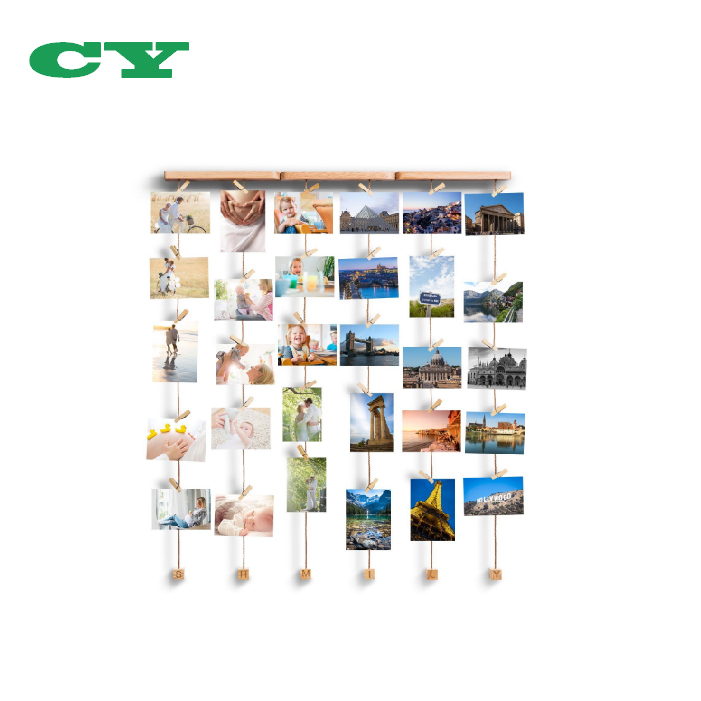 Wall Hanging Pictures Photo Frames Collage Clip Holder Artworks Postcards Photos Organizer Display