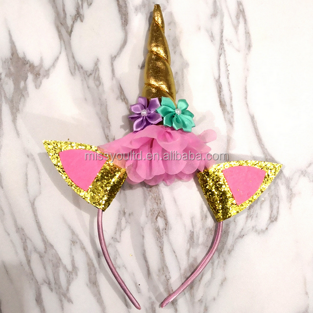 popular Rainbow colourful unicorn party supplies Funny unicorn headband