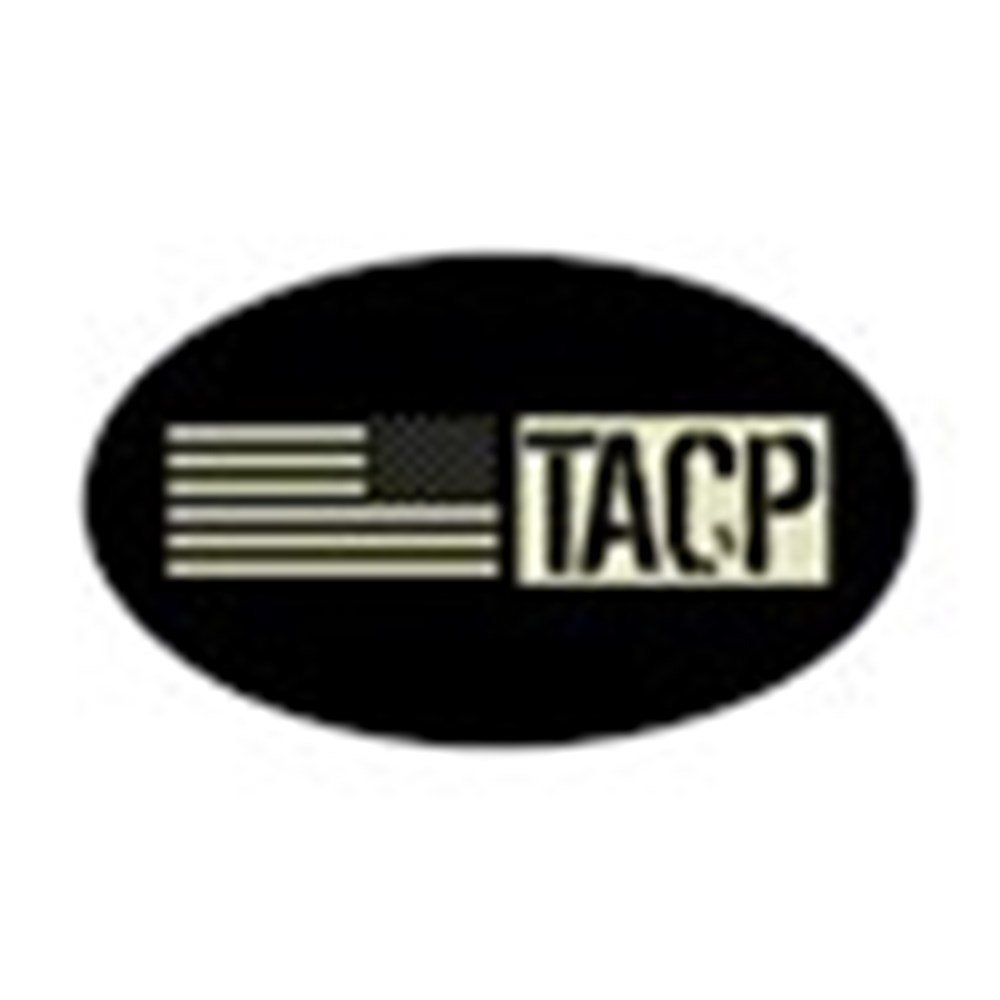 CafePress - U.S. Air Force: TACP (Black Flag) Sticker (Oval) - Oval Bumper Sticker, Euro Oval Car Decal