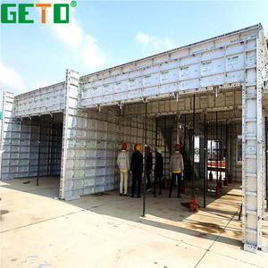 Accurate design suitable reuse aluminium wall/colum/beam panels/formwork for concrete building house
