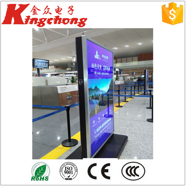 Hot selling best price and quality stainless steel wire mesh indoor advertising led tv display made in China