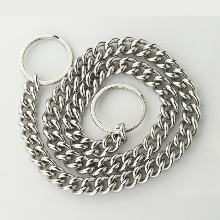 Wholesale Custom Private Label Stainless Steel Gold Chain Link Dog Collars