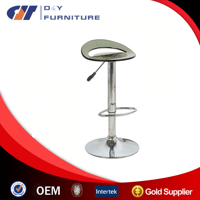 Hot sale Bar Stool with Acrylic Plastic Seat and chrome base