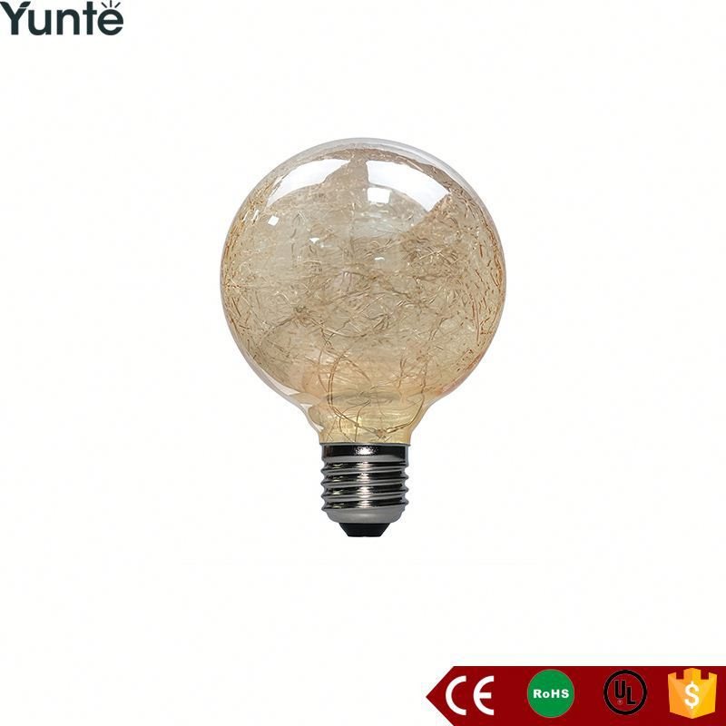 Hot sales g125 3w 240lm e27 bulb dimmable filament lamp g80 led christmas fireworks light