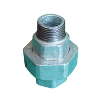 galvanized male female gi pipe fittings union