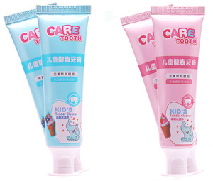 Children's toothpaste strawberry blueberry ice cream fruit flavor clean teeth 5-12 year old baby toothpaste 50g