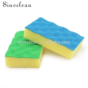 Professional sales cheap 3m blue heavy duty PU coating scrubbing sponge 2pked