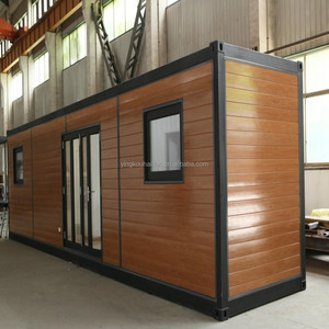 Wooden log material cabins log wooden house Modern Prefabricated houses 20 ft prefab container office