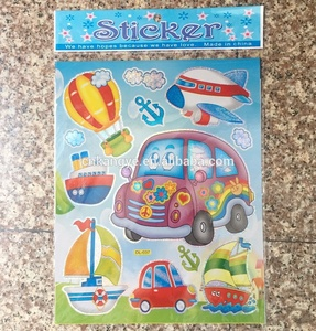 2019 best seller wholesale cartoon car sticker fancy design window stickers