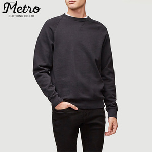 wholesale 100% cotton french terry custom crew neck pullover sweatshirts
