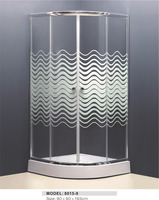 luxury style aluminium profile modern shower toilet unit