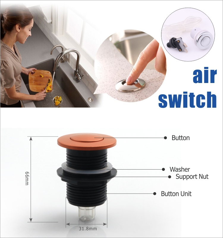 Garbage Disposal Air Switch Bathtub Plastic Push On