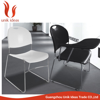 Factory Direct Price Training Room Chair Plastic Chair With Writing Pad