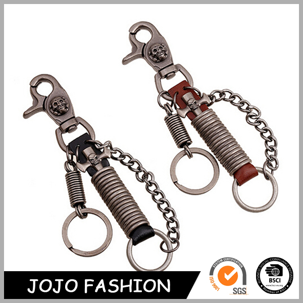 Wholesale Cheap Price Custom Spring Leather Shape Car Keychain