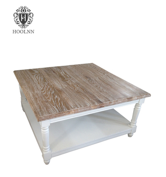 French White Wash Coffee Table For Living Room HL913 90S