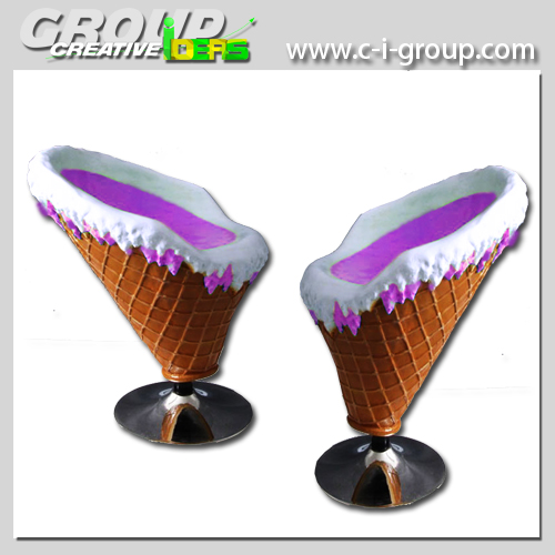 Marvelous Ice Cream Decoration Shop Furniture Fiberglass Chairs And Table