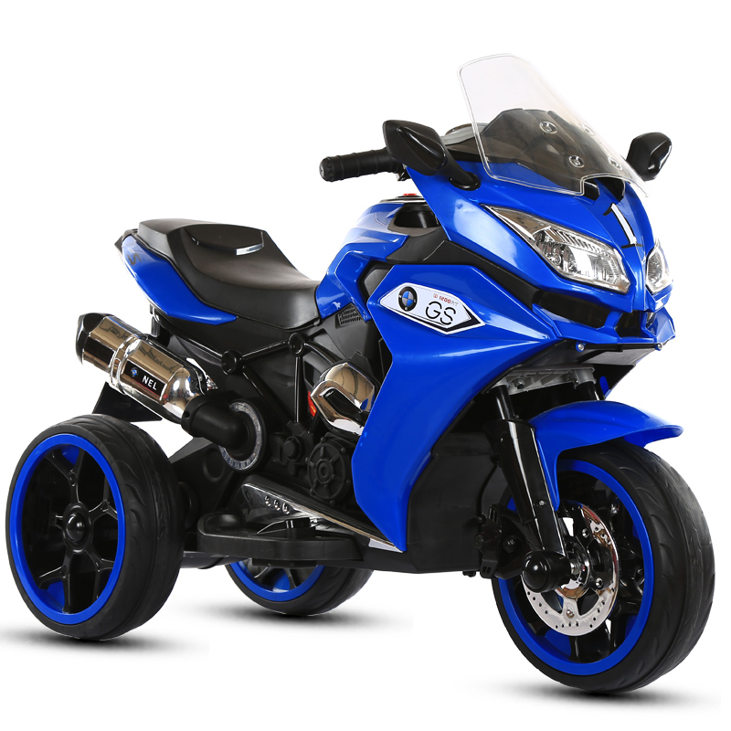 red, white, blue color plastic child electric motorcycle toy car for 5-9 years kids